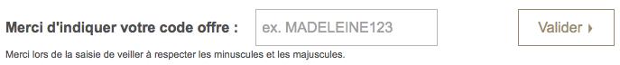 code offre Madeleine