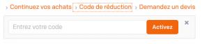 code de reduction central point